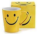 SMILEY FACE STONEWARE MUG W/ BOX