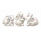 RAISED PROCELAIN BUNNY FIGURINE
