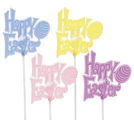 HAPPY EASTER PLASTIC PICK SET