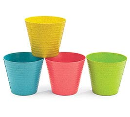 "4"" BRIGHT COLORS RECYCLED POT COVER"