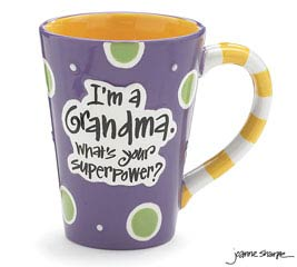GRANDMA SUPERPOWER CERAMIC MUG