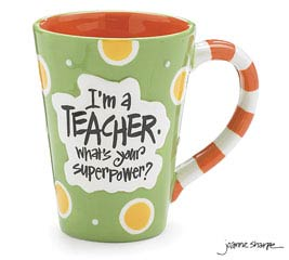 TEACHER SUPERPOWER CERAMIC MUG