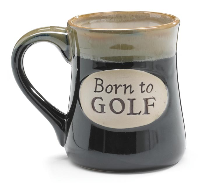 BORN TO GOLF/PRAYER PORCELAIN MUG