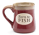 BORN TO FISH SERENITY PRAY PORCELAIN MUG
