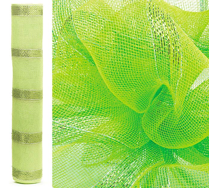 GREEN SPARKLE MESH ROLL