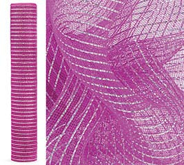 HOT PINK HOLOGRAPHIC MESH ROLL