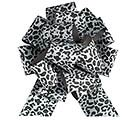PULL BOW BLK LEOPARD