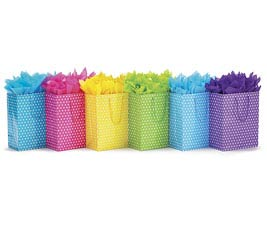 BRIGHT DOTS ASSORTED GIFT BAG SET