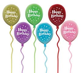 HAPPY BIRTHDAY BALLOON PLASTIC PICK SET