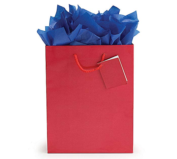 SOLID RED GIFT BAG