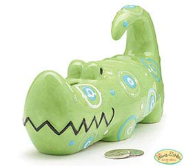 ZOOBILEE ALLIGATOR CERAMIC BANK