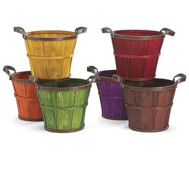 "6"" FALL WOOD BASKET POT COVER SET"