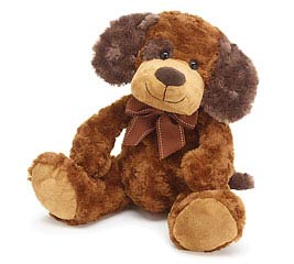 PLUSH BROWN/TAN DOG