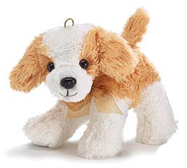 PLUSH WHITE/TAN PUPPY