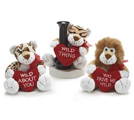 WILD VALENTINE ANIMALS VASE HUGGER SET
