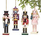 4 PIECE NUTCRACKER BALLET ORNAMENT SET