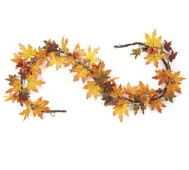"72"" MAPLE LEAF GRAPEVINE GARLAND"