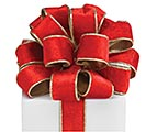 #9 RED VELVET GOLD EDGE WIRED RIBBON