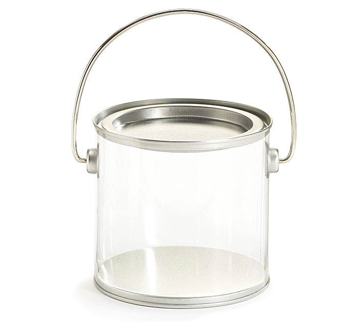 CLEAR PVC PAINT CAN/TIN PAIL