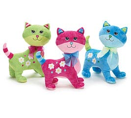 PLUSH GREEN/PINK/BLUE GROOVY KITTY