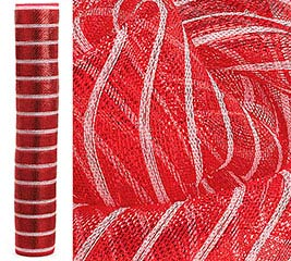 RED STRIPED MESH ROLL