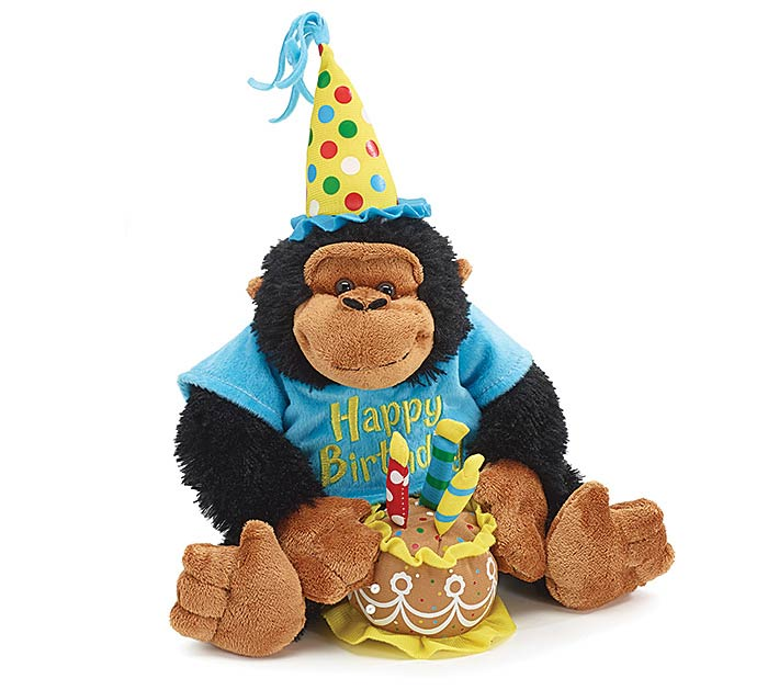 PLUSH HAPPY BIRTHDAY MONKEY