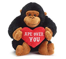 PLUSH APE OVER YOU VALENTINE GORILLA