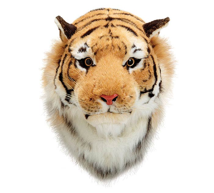PLUSH TIGER HEAD WALL HANGING