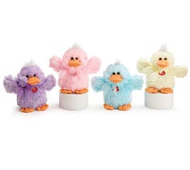 PLUSH SPRING COLORS QUACKING DUCK SET