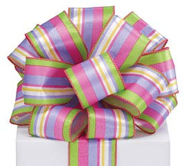 #40 SPRING STRIPES WIRED RIBBON