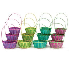 12 PIECE SPRING COLORS EASTER BASKET SET