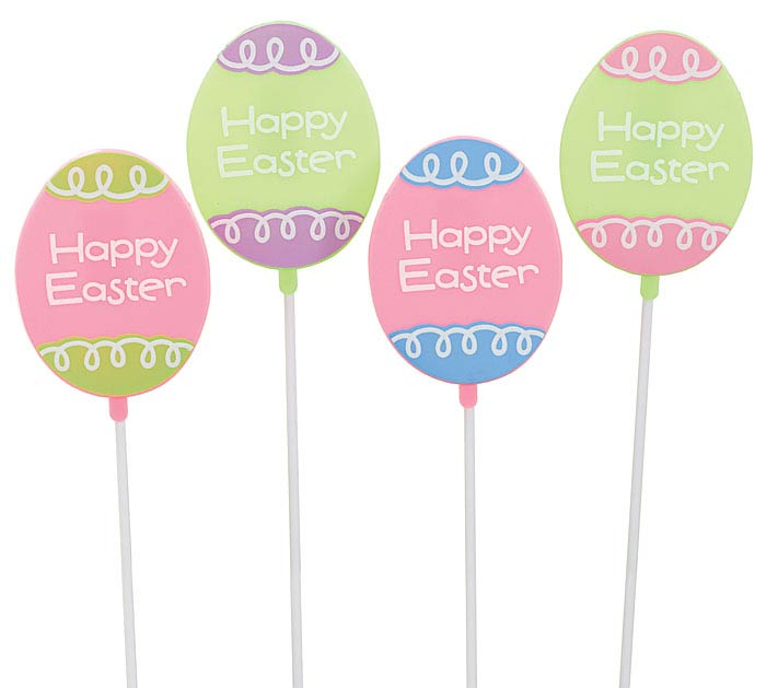 HAPPY EASTER EGG PLASTIC PICK SET