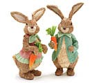 SISAL EASTER BUNNY COUPLE SET