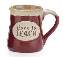 BORN TO TEACH PORCELAIN MUG W/BOX