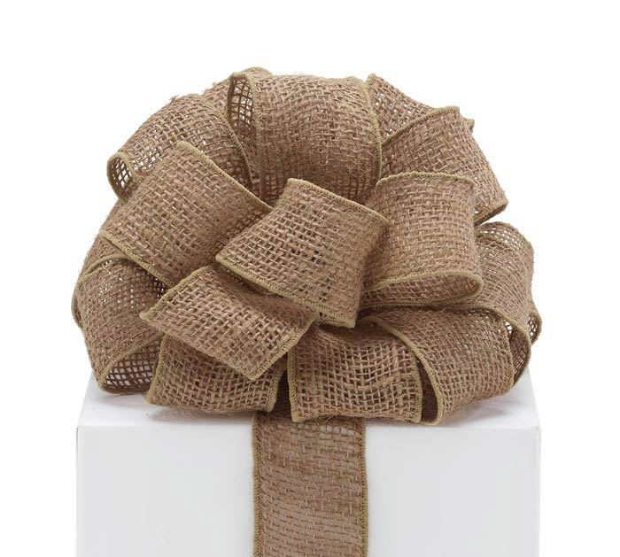 #16 NATURAL BURLAP WIRED RIBBON