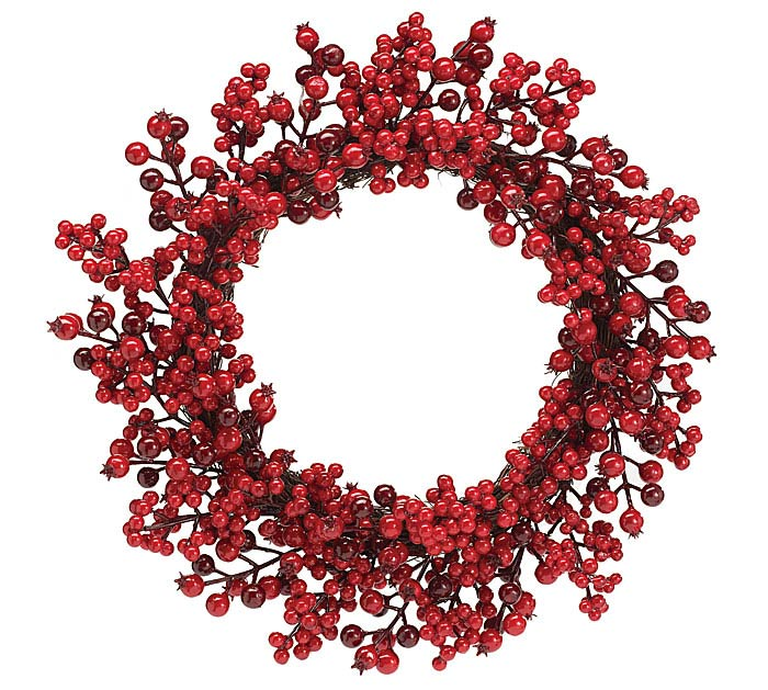 RED BERRY GRAPEVINE WREATH