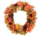 FALL HARVEST GRAPEVINE WREATH