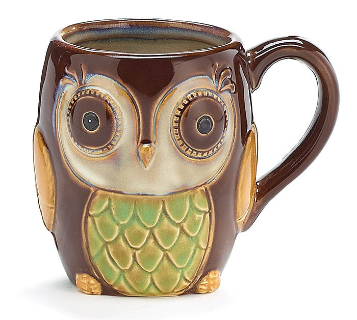 CHOCOLATE OWL MUG