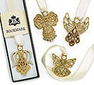 GOLD ANGEL AND RIBBON BOOKMARK SET