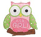 WHOO'S CUTEST GIRL BURLAP WALL HANGING