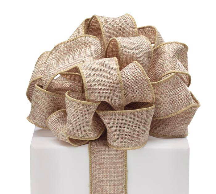 #9 NATURAL BURLAP WIRED RIBBON