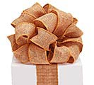 RIBBON #40 BURLAP GOLDEN BROWN