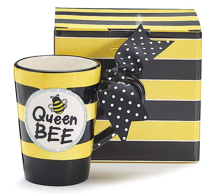 QUEEN BEE CERAMIC MUG W/ BOX