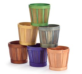 """4"""" ASSORTED WOODCHIP POT COVER"""