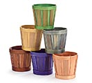 "4"" ASSORTED WOODCHIP POT COVER"