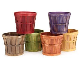 """6"""" ASSORTED WOODCHIP POT COVER"""