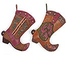 COWBOY BOOT STOCKING SET