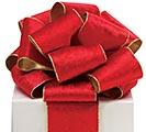 #100 RED VELVET/GOLD RIBBON