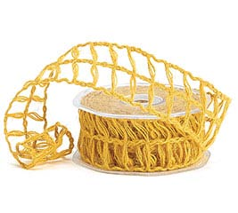 #9 MUSTARD YELLOW LATTICE JUTE RIBBON