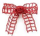 #9 CHRIMSON RED LATTICE JUTE RIBBON 1st Alternate Image
